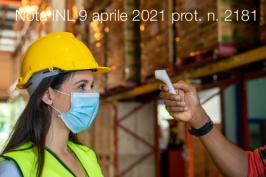 Nota INL 9 aprile 2021 prot. n. 2181