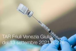 Tar Friuli Venezia Giulia del 13 settembre 2021 n. 276