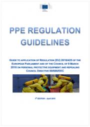 Linee guida 2018 DPI Regolamento (UE) 2016/425
