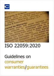 ISO 22059:2020 Guidelines on consumer warranties/guarantees