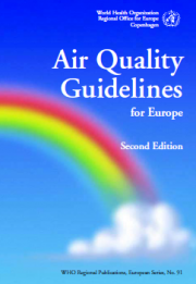 Air Quality Guidelines for Europe - WHO 2000
