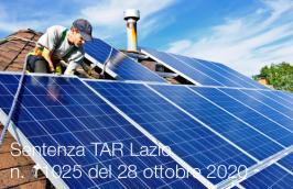 Sentenza TAR Lazio n. 11025 del 28 ottobre 2020
