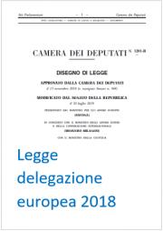 Legge di delegazione Europea 2018 | Update 09.2019