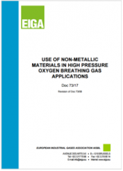Use of non-metallic materials in high pressure oxygen breathing gas applications