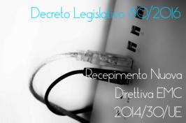 Decreto Legislativo 80/2016 EMC
