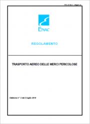 Regolamento ENAC Trasporto aereo merci pericolose