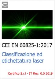 CEI EN 60825-1:2017 | Classificazione ed etichettatura laser