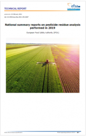 Reports EFSA on pesticide residue analysis performed in 2019