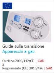 Guida transizione Regolamento (UE) 2016/426 Apparecchi a gas