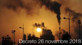 Decreto 26 novembre 2018