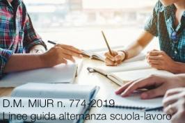 D.M. MIUR n. 774-2019 dell' 8 Ottobre 2019