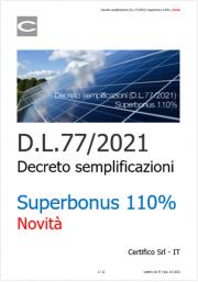 Decreto semplificazioni (D.L.77/2021): Superbonus 110%