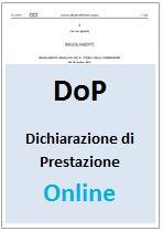 DoP - Regolamento CPR 305/2011