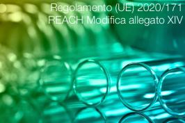 Regolamento (UE) 2020/171 | REACH Modifica allegato XIV