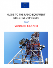 Guide to the Radio Equipment Directive 2014/53/EU | 2018