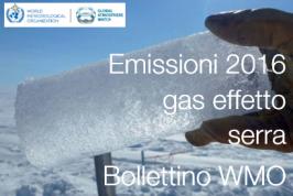 Bollettino WMO   Emissioni gas effetto serra 2016