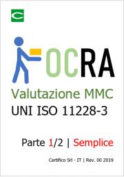 Valutazione rischio MMC ripetitivi ISO 11228-3 OCRA | Semplice