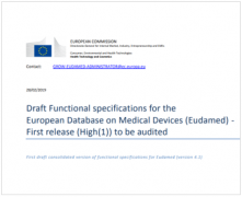 MDR Eudamed Functional Specifications
