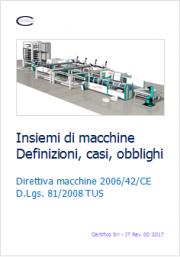 Insiemi di macchine: definizioni, casi, obblighi