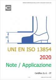 UNI EN ISO 13854:2020 Spazi minimi schiacciamento di parti del corpo: Note / Applicazione