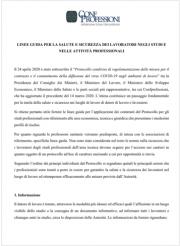 COVID 19 | Linee guida SSL negli studi professionali