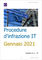 Procedure d'infrazione IT: Gennaio 2021