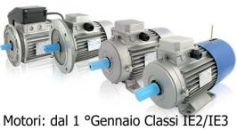 Motori elettrici: Dal 1 Gennaio 2015 limiti di classe di efficienza energetica almeno IE2/IE3