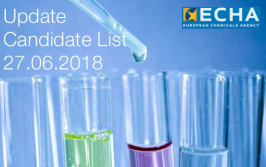 ECHA: Update Candidate List 27.06.2018