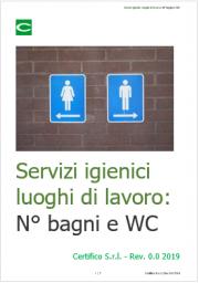 Servizi igienici luoghi di lavoro: N° bagni e WC