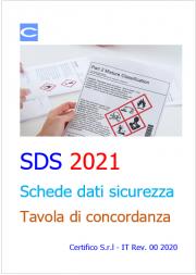 SDS 2021: Tavola di concordanza
