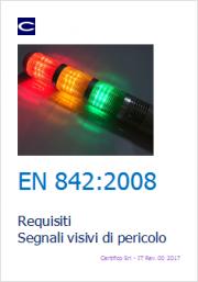 EN 842:2008 Requisiti Segnali visivi di pericolo