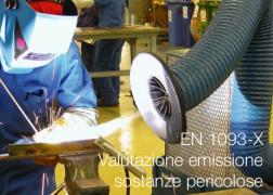 Serie norme EN 1093-X   Valutazione emissione sostanze pericolose trasportate dall'aria