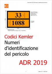 ADR 2019: Aggiornamento Kemler