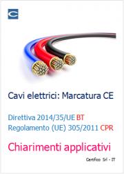 Cavi Elettrici: Marcatura CE