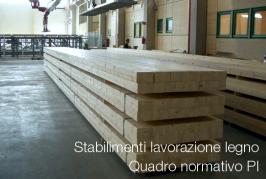 Stabilimenti lavorazione legno: quadro normativo PI