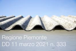 Regione Piemonte DD 11 marzo 2021 n. 333