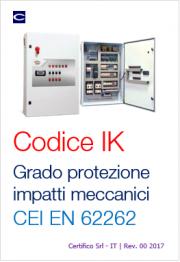 CEI EN 62262: Grado di protezione impatti meccanici IK
