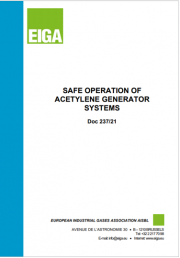 Safe Operation of Acetylene Generator Systems