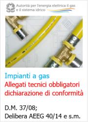 Dichiarazione di conformità e allegati obbligatori impianti gas