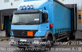 ADR 2019 - Acceptance of amendments to annexes A and B
