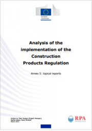 Analysis of the implementation of the Construction Products Regulation