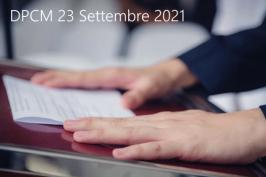 DPCM 23 Settembre 2021