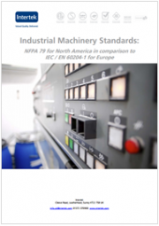 Industrial Machinery Standards: NFPA 79 for North America in comparison to IEC / EN 60204-1 for Europe