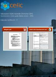 Valutazioni SQAS Aziende Chemical Distribution - CEFIC