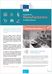 Factsheet for Manufacturers of Medical Devices and In-Vitro Diagnostic