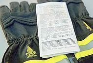 I guanti dei vigili del fuoco vanno conservati lontano dal calore