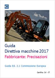 Guida Direttiva macchine 2017: precisazioni sul