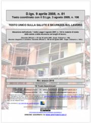 Testo Unico Sicurezza D. lgs 81/2008 - 06.2018