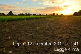 Legge 12 dicembre 2019 n. 141 | Legge clima