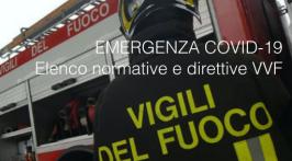 EMERGENZA COVID-19: elenco normative VVF